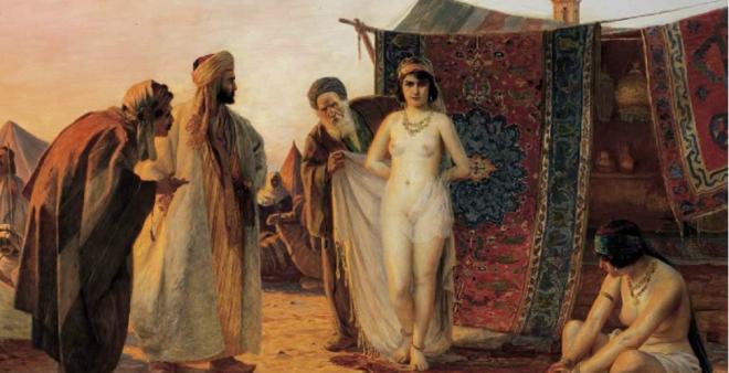 6b. Slavic slave being sold in Crimean slave market